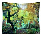 6 Abstract Japanese Maple Tree Tapestry