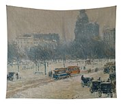 Winter In Union Square Tapestry