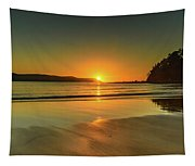 Sunrise Seascape From The Beach Tapestry