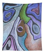 #758 Abstract Drawing Tapestry