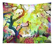 8 Abstract Japanese Maple Tree Tapestry