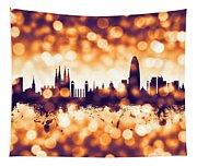 Barcelona Spain Skyline Tapestry