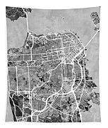 San Francisco City Street Map Tapestry
