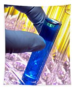 Test Tube In Science Research Lab Tapestry