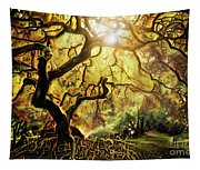 9 Abstract Japanese Maple Tree Tapestry