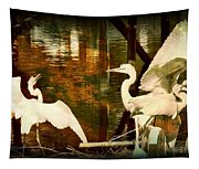 9 Egrets Tapestry