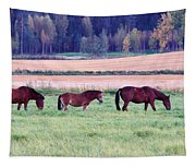 Horses Of The Fall Tapestry