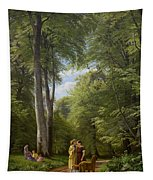A Beech Wood In May Near Iselingen Manor Tapestry