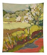 A Bend In The Road Tapestry by Jennifer Lommers