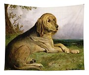 A Bloodhound In A Landscape Tapestry