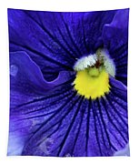 A Blue Pansy Tapestry