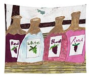 A Bottle Of Red Tapestry