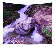A Boulder Splitting The Rocks Tapestry
