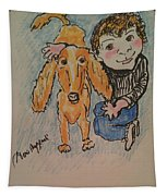 A Boy And His Dog Tapestry