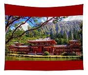 Buddhist Temple - Oahu, Hawaii - Tapestry