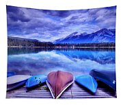 A Calm Afternoon At Lake Edith Tapestry