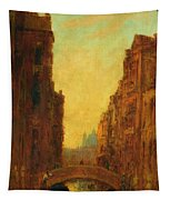 A Canal In Venice Tapestry