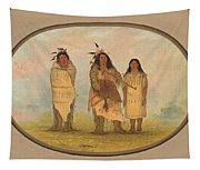 A Cheyenne Chief His Wife And A Medicine Man Tapestry