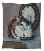 A Clockwork Cat Tapestry