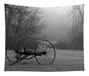 A Country Scene In Black And White Tapestry