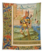 A Court Fool Of The 15th Century. 19th Tapestry