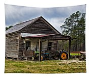 A Crooked Little Barn Tapestry