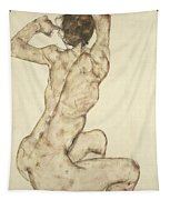 A Crouching Nude Tapestry