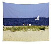 A Day At The Beach - Martha's Vineyard Tapestry