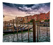 Surreal Seascape On The Grand Canal In Venice, Italy Tapestry