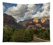 A Drive Through The Red Rocks  Tapestry