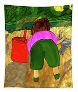 A Fall Walk On The Beach Tapestry