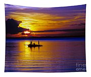 A Fisherman's Sunset  Tapestry