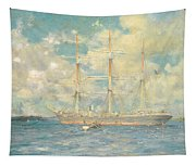 A French Barque In Falmouth Bay Tapestry