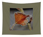 A Frosted Leaf  Tapestry