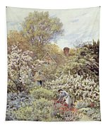 A Garden In Spring Tapestry