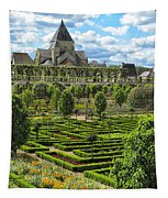 A Garden View At Chateau De Villandry Tapestry