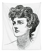 A Gibson Girl By Charles Dana Gibson Tapestry