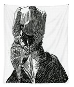 A Gibson Girl With Parasol Tapestry