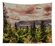 A Glimpse Of The Mountains Tapestry