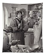 A Goldsmith's Shop In 15th Century Italy Tapestry