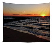 A Grand Beach Sunset Tapestry