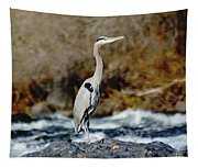A Great Blue Heron At The Spokane River 2 Tapestry