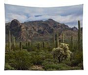 A Green Desert Forest  Tapestry