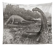 A Group Of Brontosaurs, Or Thunder Tapestry