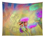 A Hoverfly On Abstract #h3 Tapestry
