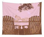 A Lake Murray Sc Sketch Tapestry