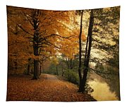 A Leafy Path Tapestry