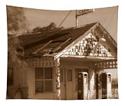 A Little Weathered Gas Station Tapestry