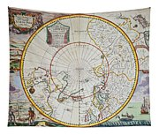 A Map Of The North Pole Tapestry