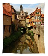 A Medieval Village In Germany Tapestry